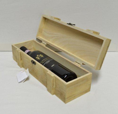 Maiso Weinkiste-Geschenkverpackung für Wein Weinkiste aus Echtholz mit Verschluß Weinverpackung