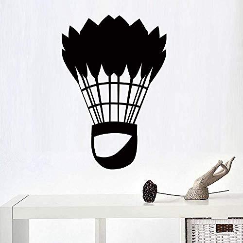 Klassische Badminton Sportkunst Wandaufkleber Für Wohnkultur Wohnzimmer Wanddekoration Aufkleber Aufkleber Tapete Wandbilder 43Cm X 63Cm