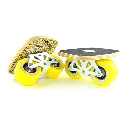 Great Features Of LLQQ Freeline Skates,Drift Skate with Maple Pedal and PU Wheels Stainless Steel Br...