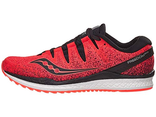 Saucony Freedom ISO 2, Zapatillas de Entrenamiento para Hombre, Rojo (ViziRed/Black 035), 44.5 EU
