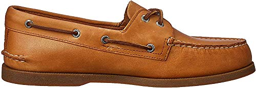 Sperry A/O 2-Eye Leather 197640 - Mocasines de Cuero para Hombre, Color marrón, Talla 43