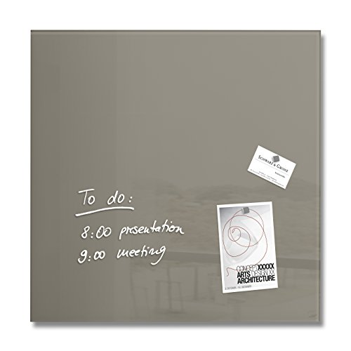 SIGEL GL118 Glas-Magnetboard 48 x 48 cm taupe / Magnettafel Artverum - weitere Farben