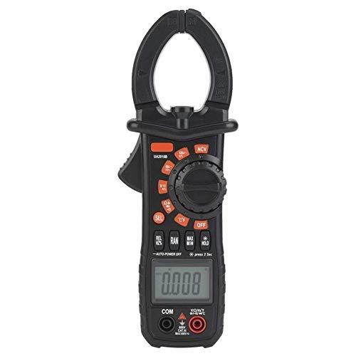 Multímetro Digital UA2018B Pinza amperimétrica Digital de Mano Negra Medidor de Voltaje CC/CA Digital Profesional preciso