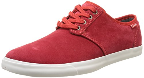 Clarks Herren Torbay Lace High-Top, Rot (Red Suede), 44 EU
