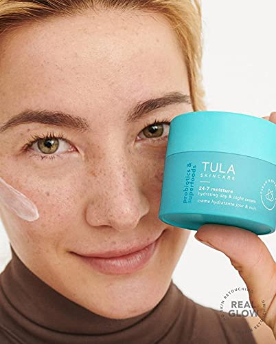 TULA Probiotic Skin Care Supersize 24-7 Moisture Hydrating Day & Night Cream | Moisturizer for Face, Ageless is the New Anti-Aging, Face Cream, Contains Watermelon Fruit and Blueberry Extract | 3.4 oz