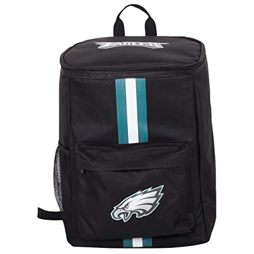 Cooler Backpack – Portable Soft Sided Ice Chest – Insulated Bag Holds 36 Cans - NFL Football Gear – Show Your Team Spirit with Officially Licensed Fan Gear (Philadelphia Eagles)