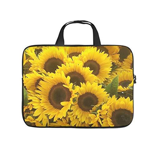 Sunflower Laptop Case Bag Waterproof Lightweight Multi-Color 10-17 Inch for Boys Girls White 17 Zoll