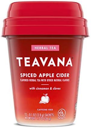 Teavana Spiced Apple Cider Herbal Tea With Cinnamon and Cloves Caffeine Free 1 Pack 12 Sachets product image