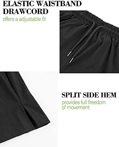 We1Fit Men's 2 Pack Gym Workout Shorts Quick Dry Bodybuilding Training Running Jogger with Pockets
