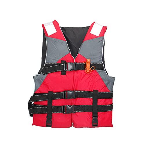 SANHH Chaleco Salvavidas Chaleco de natación Pesca Adulto Jacket de la Vida Chaqueta de flotación Drifting Pesca de mar con Vidrio de Pesca de Entrepierna Red-One Size