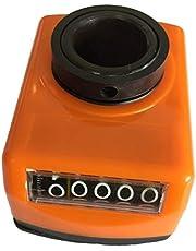 Summerwindy Torno de la Máquina Parte 20Mm Diámetro Indicador de Posición Digital Naranja