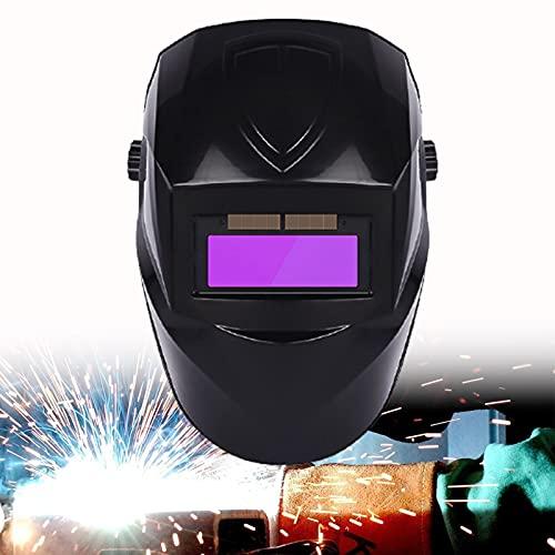 CSYHJRS Máscara Protectora para soldadores con Pantalla Facial de Soldadura montada en la Cabeza, Casco de Soldadura con energía Solar de oscurecimiento automático, para Arco Mig TIG