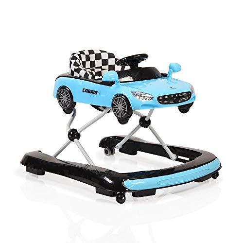 Cangaroo Cabrio Lauflernhilfe/Lauflernwagen mit Wippfunktion/Wippstuhl 2 in 1, blau Gehfrei mit fröhlichem Spielecenter ab 6 Monaten