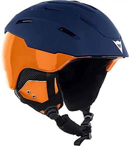 Dainese Herren D-brid Ski Protektor, Mehrfarbig (Schwarz-Iris/Russet-Orange), 53-58 cm (Herstellergröße:M-L)