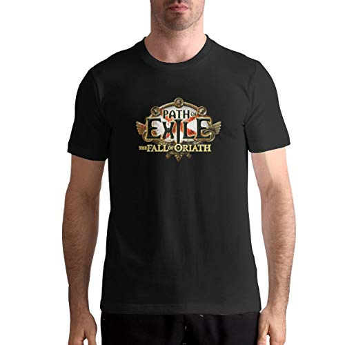 Path of Exile The Fall of Oriath Music Man Tops Short Sleeve Tee L Black