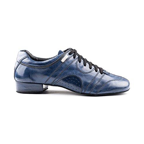 PortDance Herren Tanzschuhe/Dance Sneakers PD Casual - Leder Blau - Rauledersohle [EUR 44]