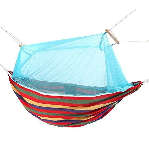 XXMM Hammock 1-2 Person Hänge Doppelhängesessel Schaukelbett Garten Mehrfachnutzung Camping Hammock (Farbe: Blau, Größe: 280x100cm) (Color : Blue, Size : 280x100cm)