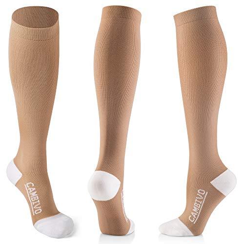 CAMBIVO 3 Paar Kompressionsstrümpfe Damen und Herren, Kompressionssocken, Thrombosestrümpfe, Compression Socks für Sport, Ski, Flug, Reise, Medizinisch, Schwangerschaft