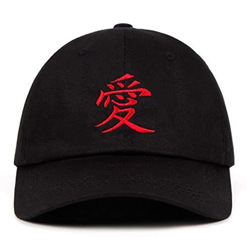 Heppy Sabaku No Gaara Bordado papá Sombrero 100% algodón Gaara Akatsuki Uchiha Gorras de béisbol Anime Snapback Hip Hop Sombreros