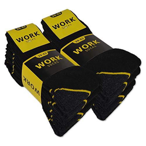 10 oder 20 Paar Herren Arbeitssocken WORK (43-46, 10 Paar | Schwarz)