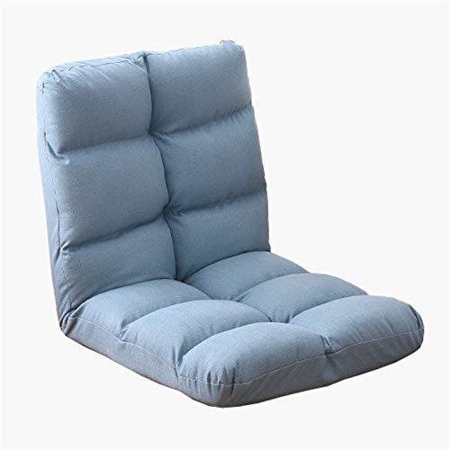 WHOJA Sillón Reclinable Simplicidad Moderna Sofá Cama Individual Plegable Ajuste de 5 velocidades Fácil de Quitar y Lavar Salón Dormitorio balcón Sillon Relax (Color : Blue)
