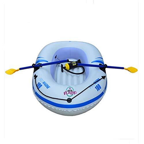 GUOE-YKGM Kayak Kinderboot - 1-Personen-Ausflug-Schlauchboot-Set Mit 2 Rudern Und Leistungsstarker Luft-Handpumpe - Angler- Und Freizeitboot Für Leichte Fischerboot-Island-Voyage (Color : White)