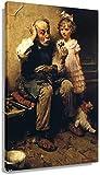 DPZAFL Cuadros Decoracion Norman Rockwell - Zapatero estudiando Poster de Zapatos de muñeca Impresiones artísticas Cuadros Decoracion Impresiones Pinturas 40x60cm x1 Sin Marco