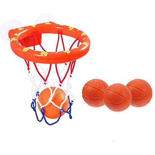 gotyou Juguetes de baño-Canasta Baloncesto Infantil Bañera, y 3 Bola,Mini Baloncesto aro Set,Juguete para el baño de Baloncesto y aro Juego Creativo para bañarse en la bañera para niños con Ventosas