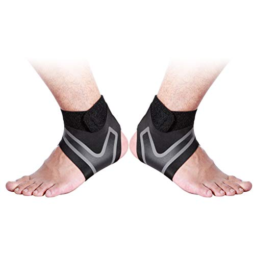 LIOOBO 1 Pair Sports Ankle Support Stretchy Ankle Brace for Exercise Basketball Ankle Sprain