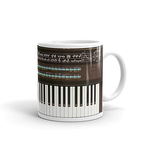 Yamaha DX7 Classic Retro Synth - Taza de café (12 onzas)