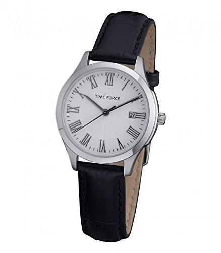TIME FORCE Reloj Analógico para Mujer de Cuarzo con Correa en Cuero TF3305L02