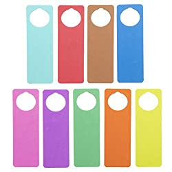 Foam Door Hangers 9/Pkg-Assorted Colors