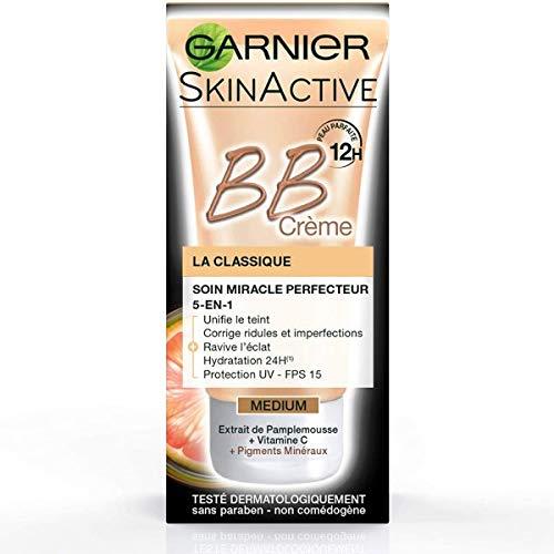 "Garnier BB Crème ""La Classique"", 5-in-1, Anti-Hautunreinheiten-Pflege, Hautton Medium, 50-ml-Tube"