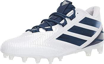 adidas Men's Freak Carbon Low Football Shoe, White/Collegiate Navy/White, 12 M US