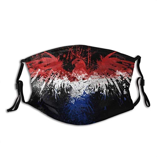 Mundschutz Niederländische Flagge mit Eagle Waschbare und Wiederverwendbare Gesichtsbedeckung mit Filter