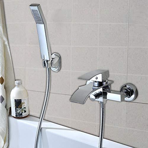 HaroldDol Elegant badkraan met wandhouder, handdouche voor badkamer, badkamer, douche