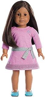 American Girl Truly Me Doll: Dark Skin, Brown Hair, Brown Eyes, Lilac Dress DN31