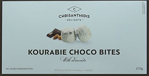 Chrisanthidis S.A. Kourabie Schokolade-Buttergebäck mit Mandeln 270g, 2er Pack (2 x 270 g)