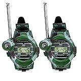 YepYes Reloj de Pulsera Walkie Children Ejército al Aire Libre Talkies de Juguete para Largo Alcance de Dos vías Radio Camo 150m Green 2 PCS