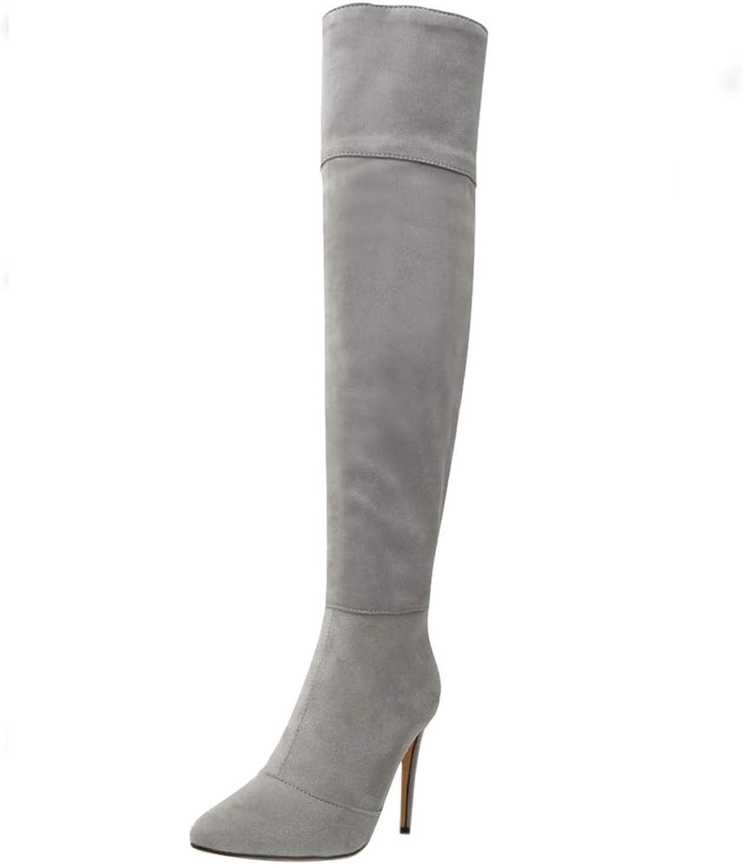 BeiaMina Womens Fashion Stiletto Over The Knee Boots