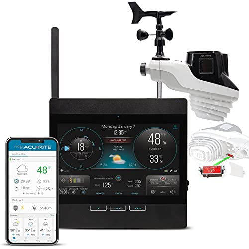 AcuRite Atlas Professional Weather Station with Direct-to-Wi-Fi HD Display with Lightning Detection and Temperature, Humidity, Wind Speed Direction, and Rainfall (01001M)