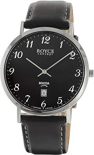 Boccia Herren Chronograph Quarz Uhr mit Leder Armband 3634-02