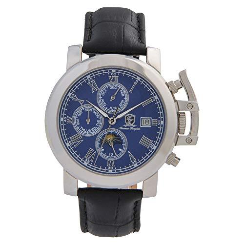 Thomas Tompion TTA-016012351 Men's Hooke Silver/Blue Automatic Watch