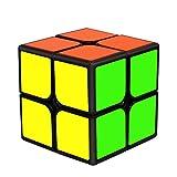 EASEHOME 2x2x2 Speed Magic Puzzle Cube, Rompecabezas Cubo Mágico PVC Pegatina para Niños y Adultos, Negro