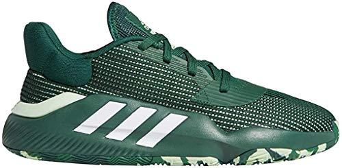 adidas Pro Bounce 2019 Low Shoe - Men's Basketball Dark Green/White/Glow Green