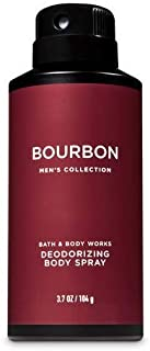 Bath and Body Works Bourbon Men's Deodorizing Body Spray 3.7 Ounce