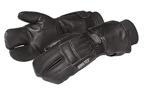 SunnyTrade Held Talin textiel-lederen handschoen - GoreTex membraan - waterafstotend - 3 vingers motorfiets biker winterhandschoen van haarschapenleer