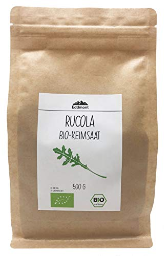 Eddmont Bio Rucola Keimsprossen 500 g | Rauke Sprossen Keimlinge Microgreens Samen