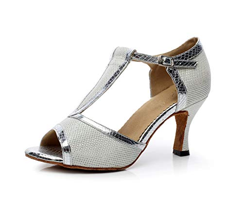 MINITOO MinitooGYQJ7026, Damen Standard & Latein , Silber - silber - Größe: 36 EU