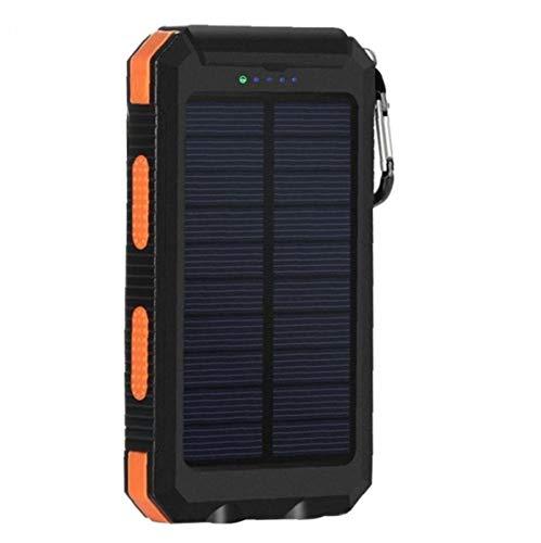 WFIT Cargador Solar Resistente Al Agua De Alimentación del Banco Móvil 20000mah Teléfono Portátil Cargador del Respaldo De Batería Externa del Cargador del Paquete De Orange